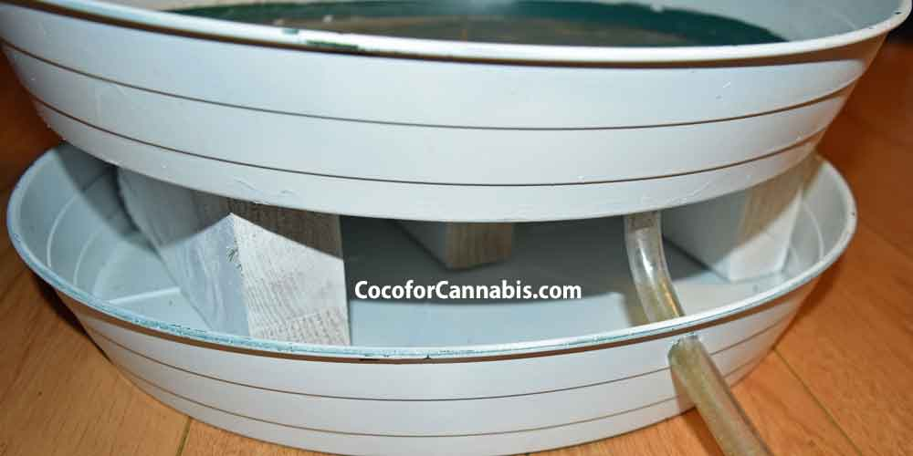 Self Draining Saucer for indoor cannabis