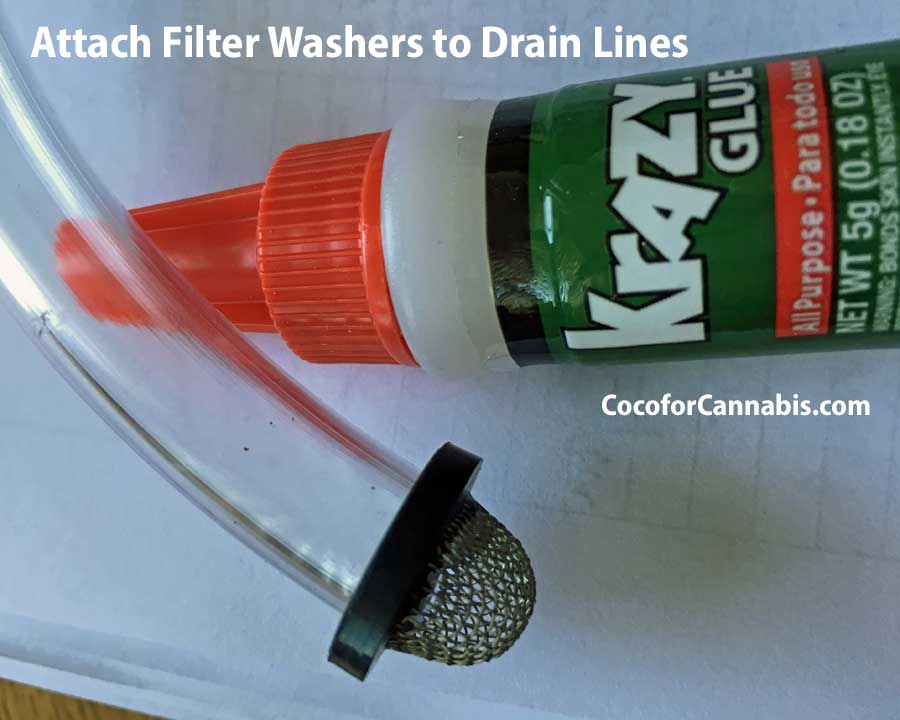 Drain Lines for Self Draining Saucers