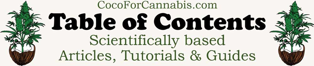 Coco for Cannabis Table of Contents