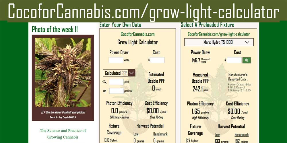 Grow Light Calculator
